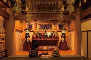 万松寺のお葬式 本堂