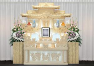 万松寺のお葬式 白木祭壇